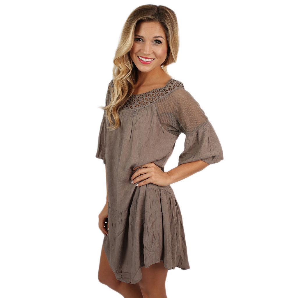 In Full Swing Dress Mocha