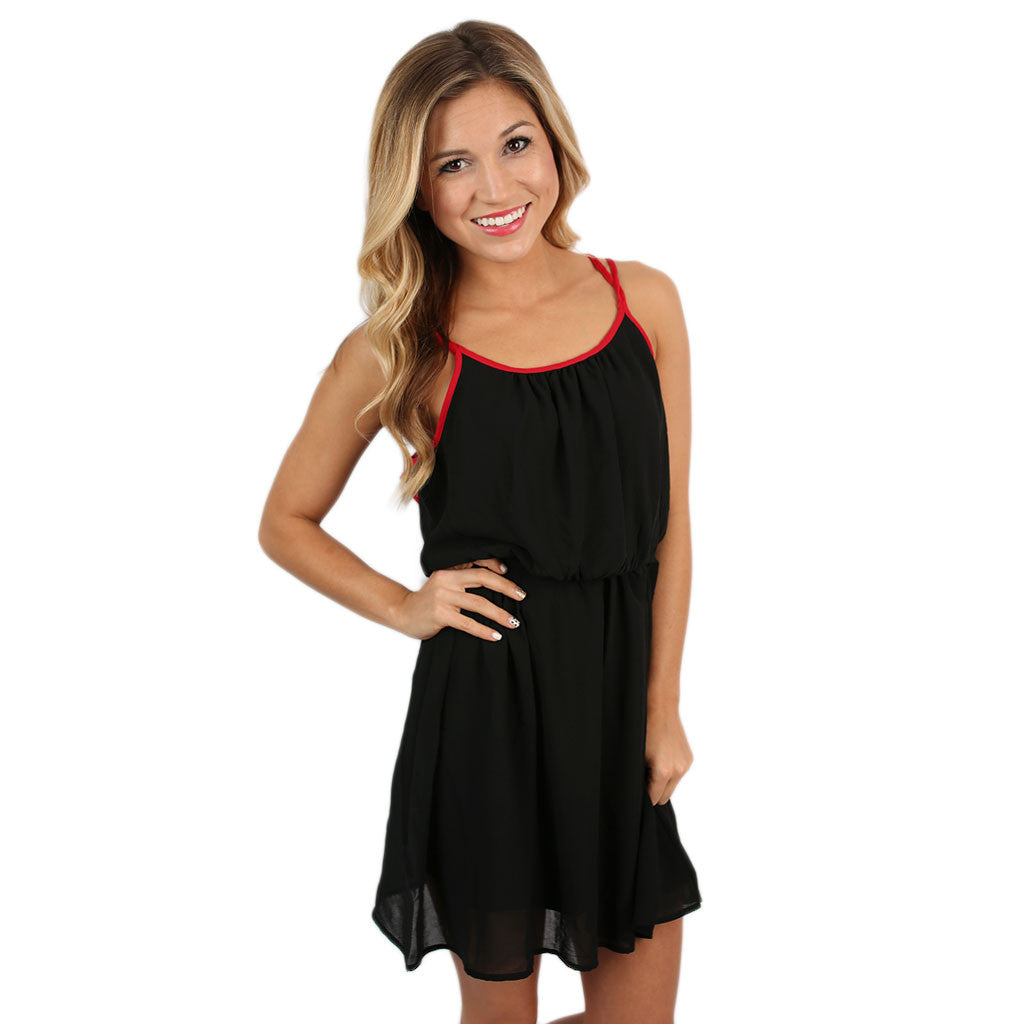 Let's Tailgate Dress in Black