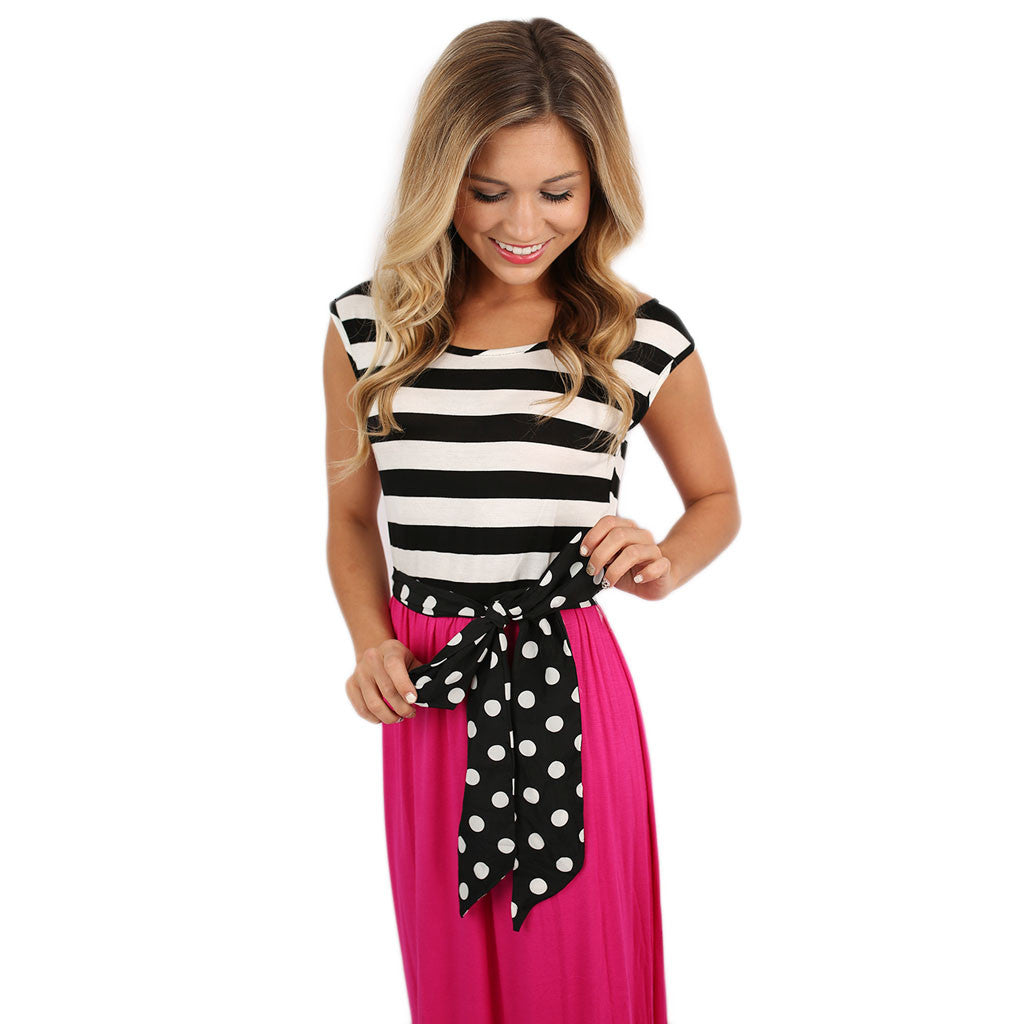 Stripes & Smiles Maxi in Pink