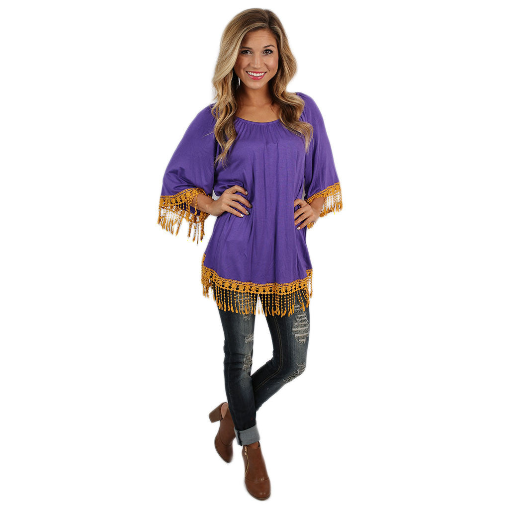 Cheers To the Weekend Tunic in Purple