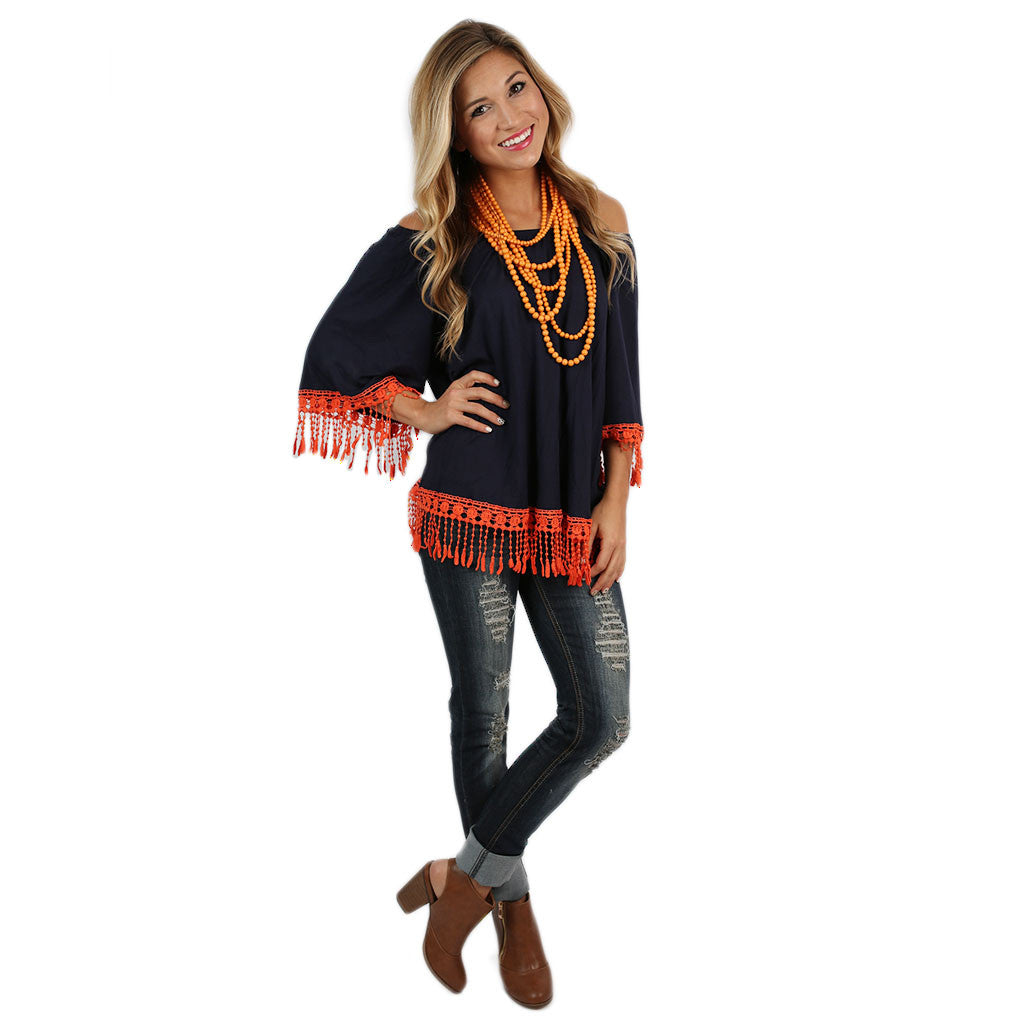 Cheers To the Weekend Tunic in Navy