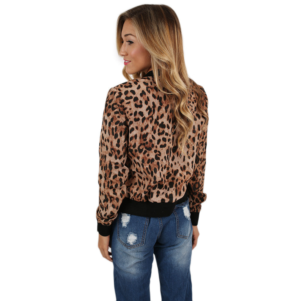 Lovely Leopard Bomber Jacket • Impressions Online Boutique