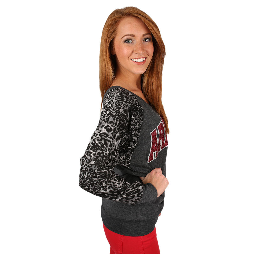 Leopard Sweater University of Arkansas