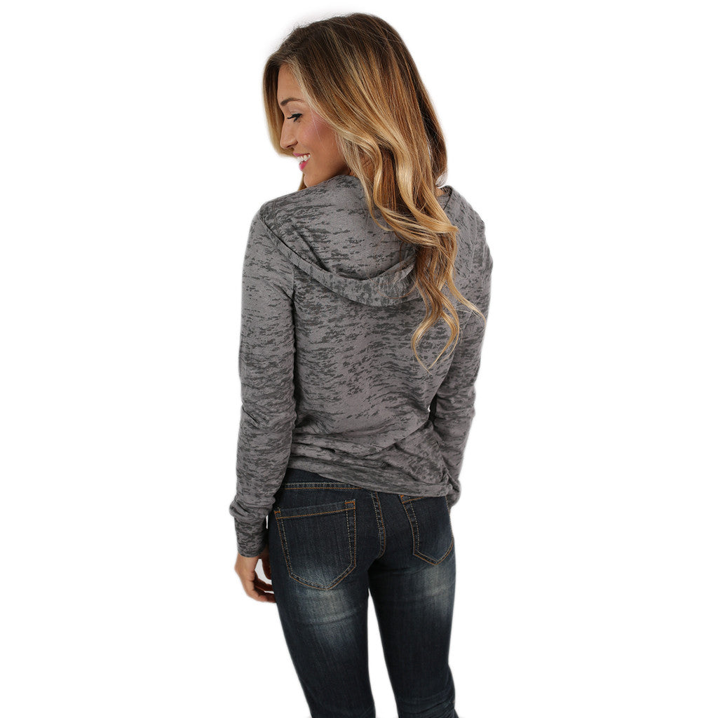 Dark Grey Arkansas Burnout Hoodie