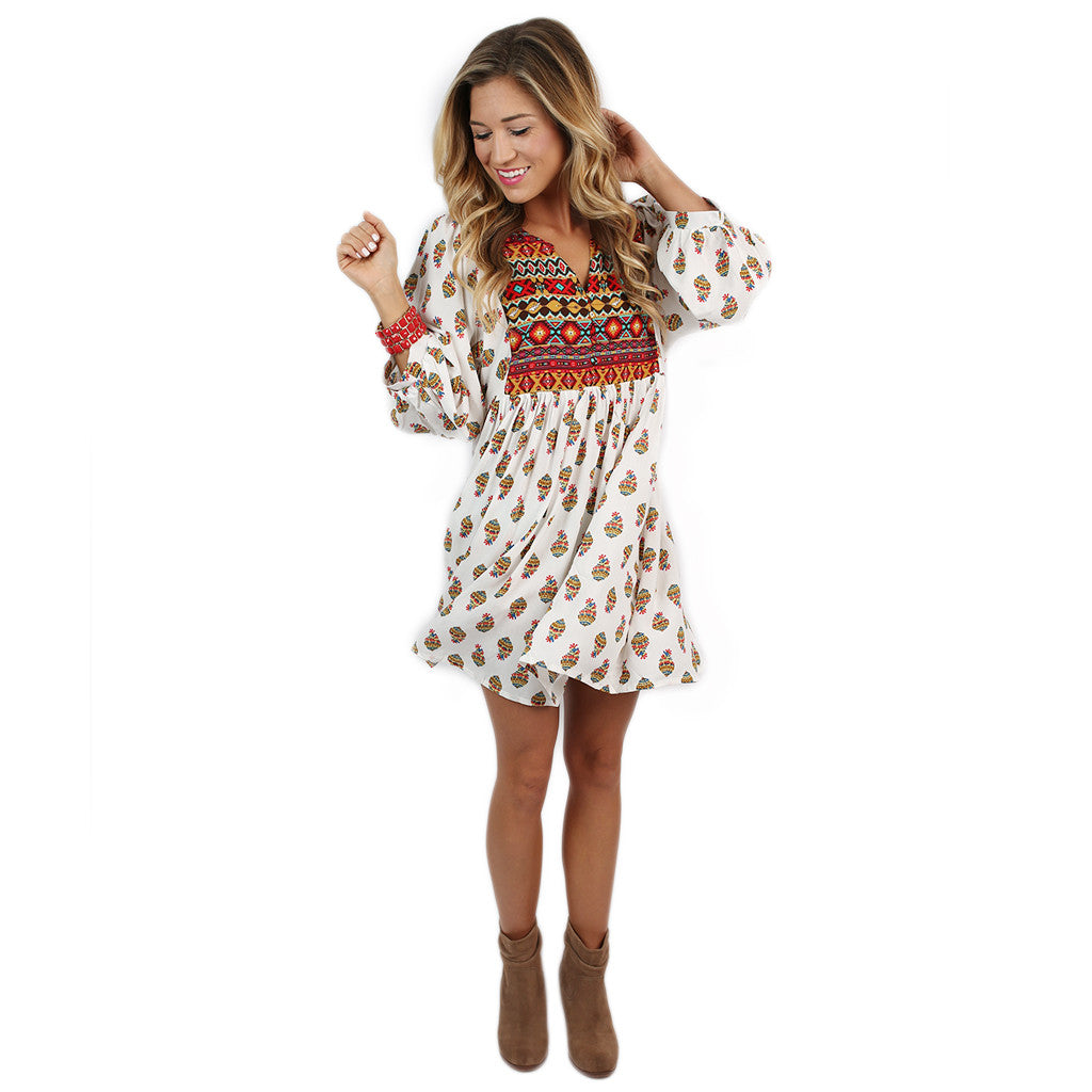 Perfect Day Tunic Dress in White