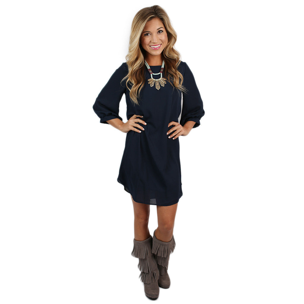 West Coast Dreaming Dress in Navy