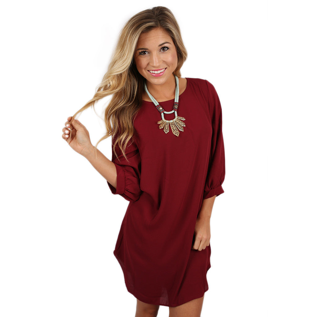 West Coast Dreaming Dress in Burgundy