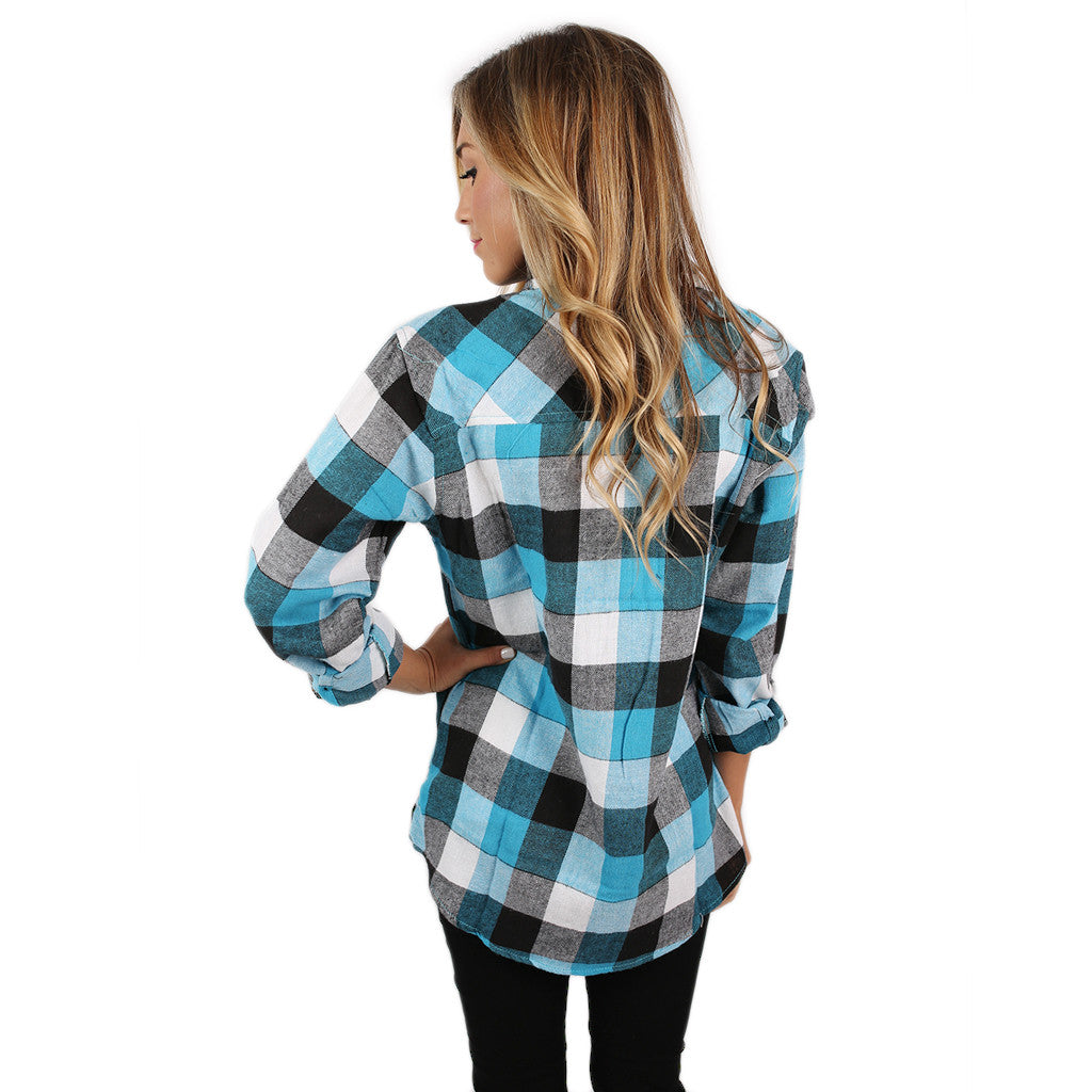 Cozy For Days Unisex Flannel in Light Blue