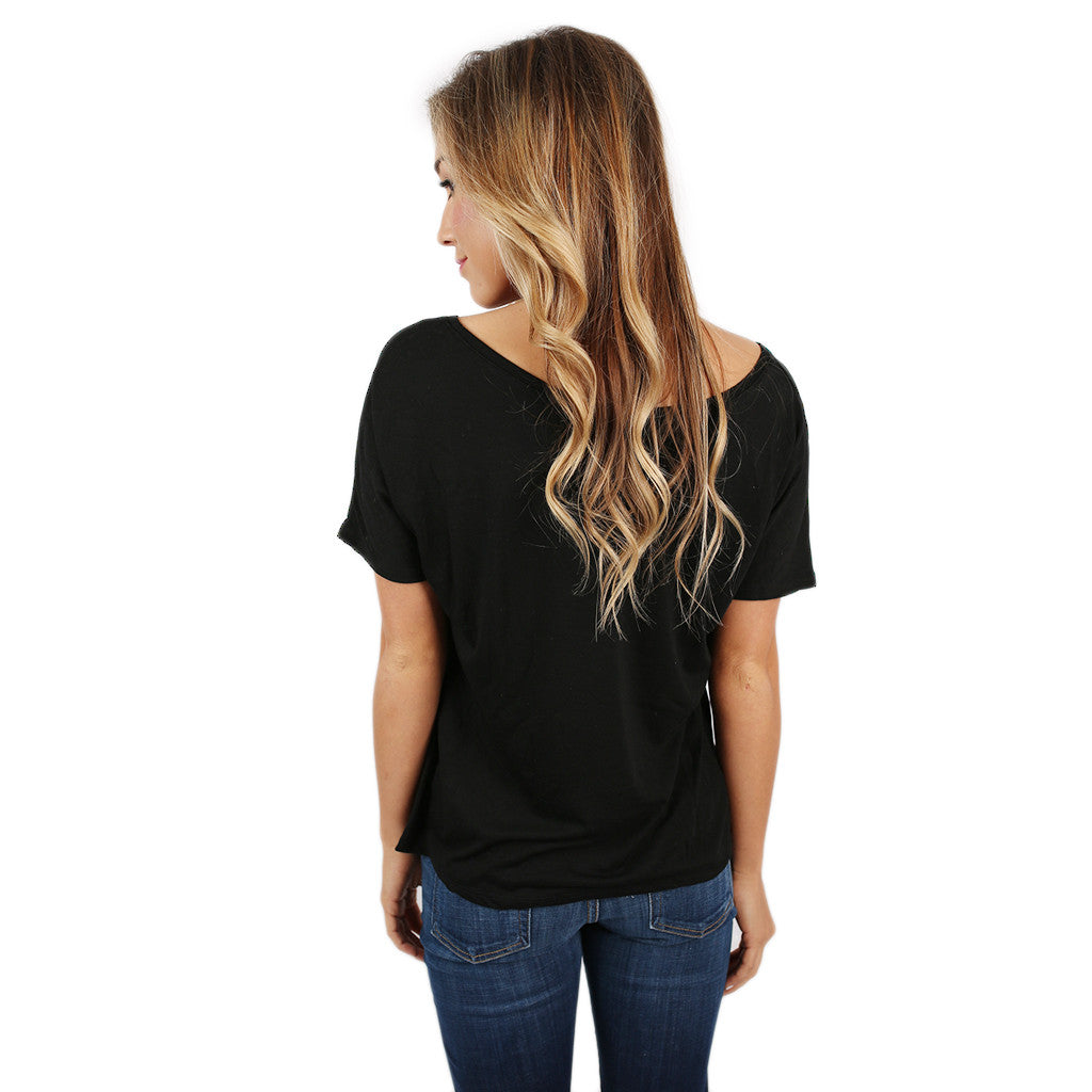 Flowy Simple Tee Black