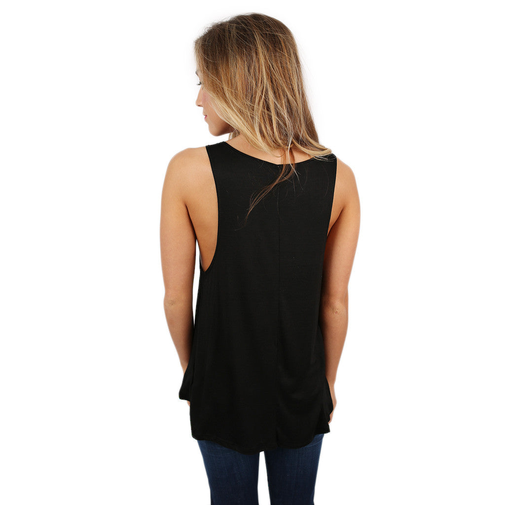 Morning Person Tank in Black