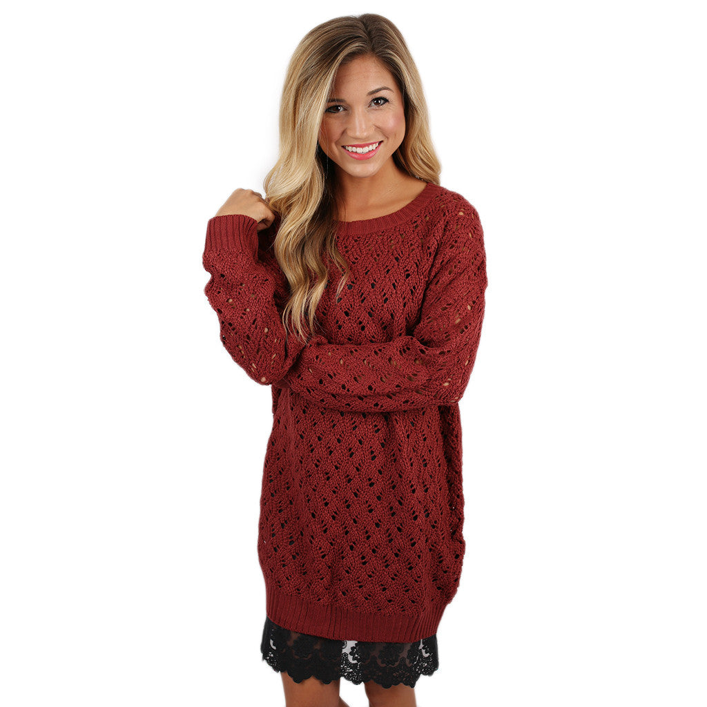 Dream Worthy Sweater in Maroon