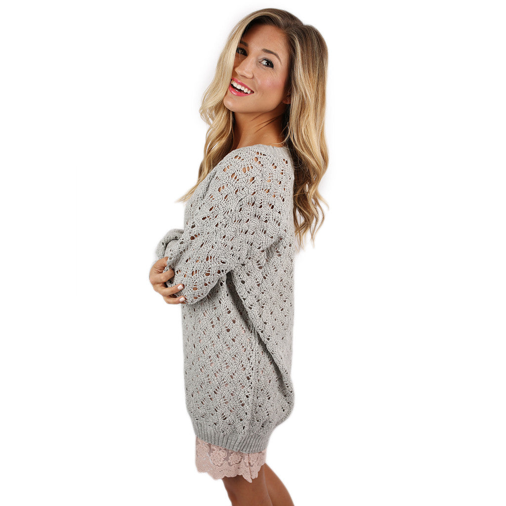 Dream Worthy Sweater in Grey