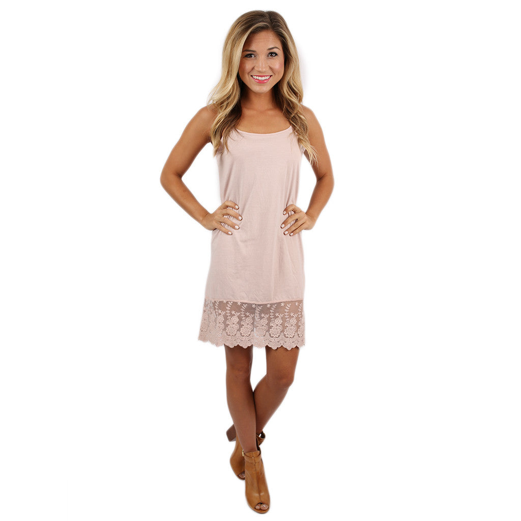 Lace Slip Dress Extender in Blush