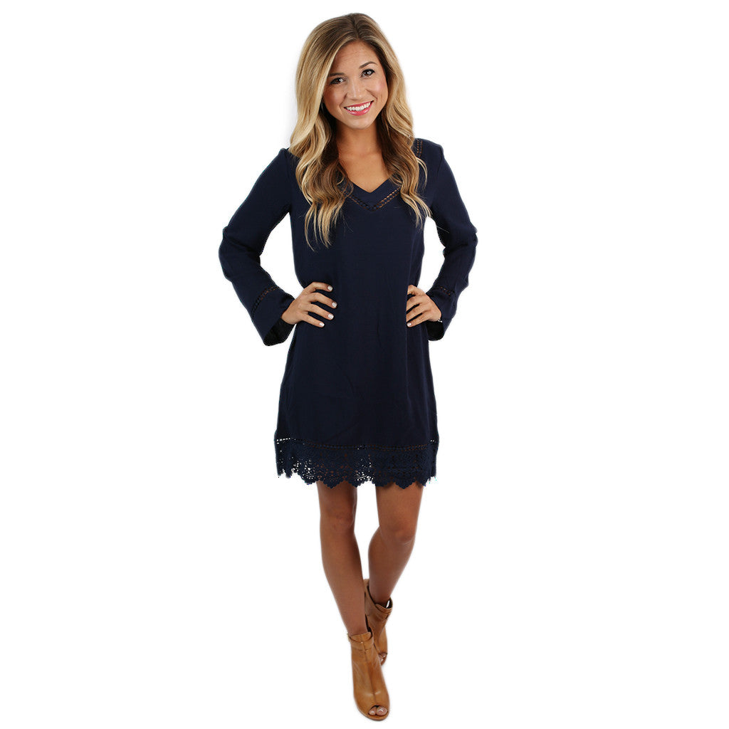 Vegas Nights Dress in Navy