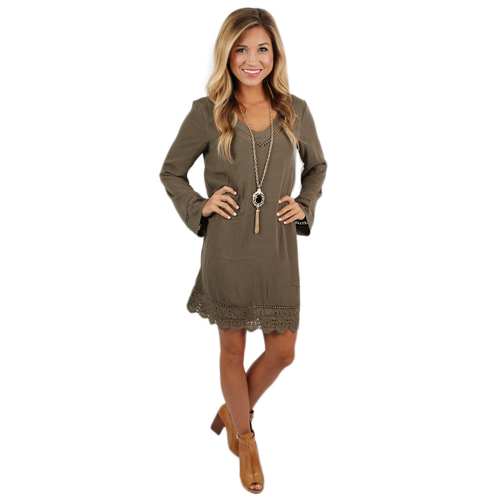Vegas Nights Dress in Olive