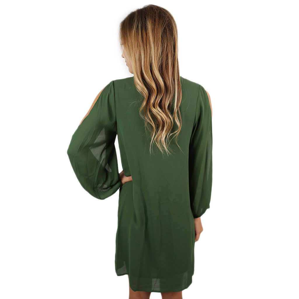 So Smitten Dress in Olive