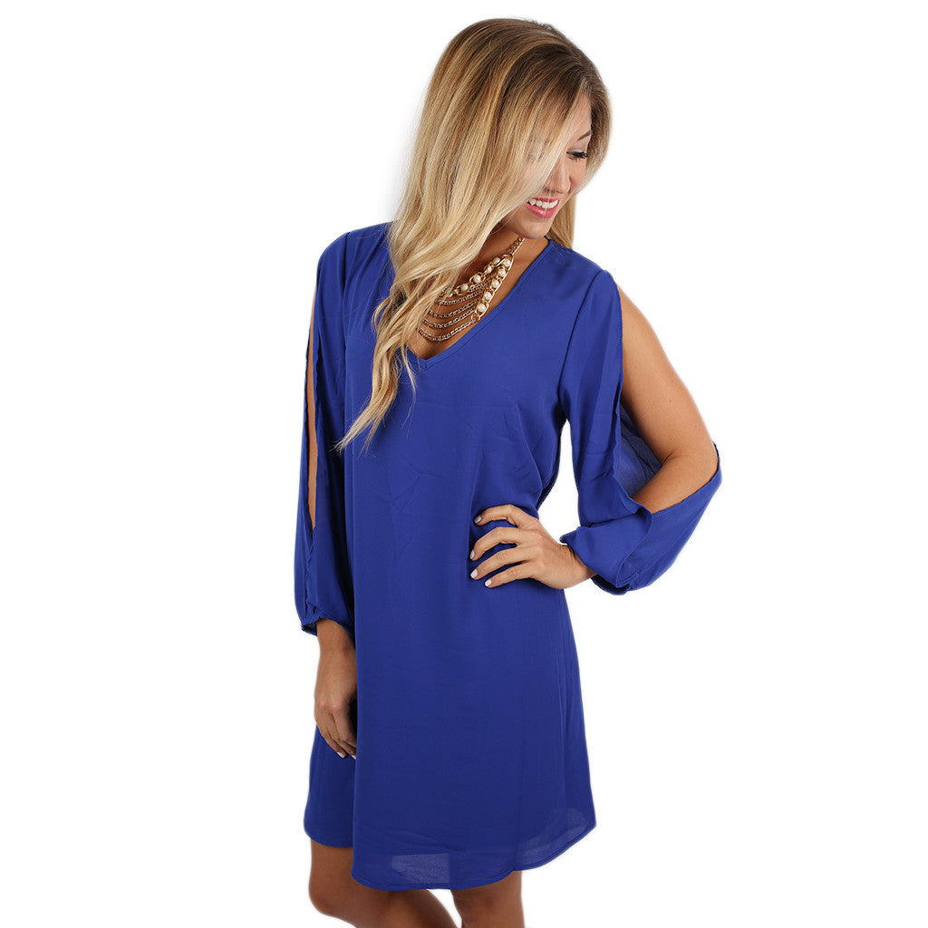 So Smitten Dress in Royal Blue