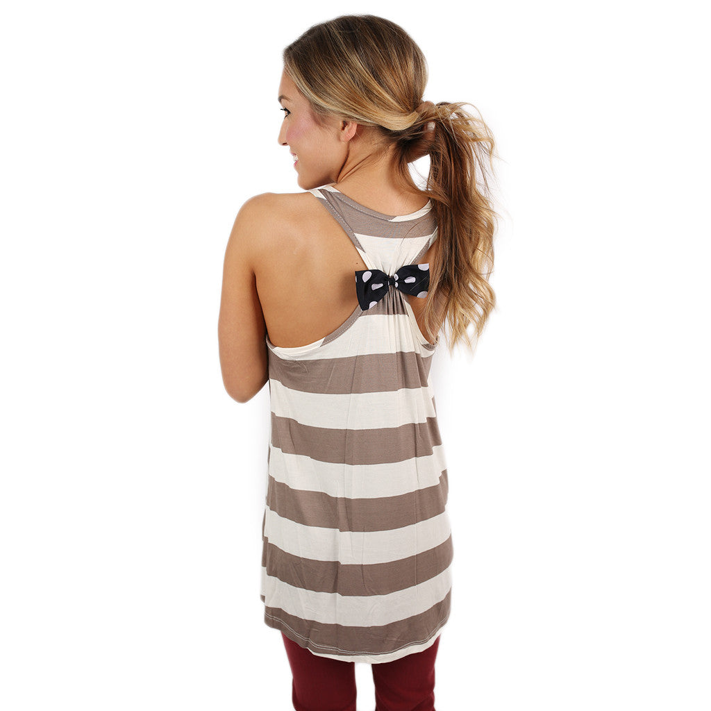 Dots Couture Tank in Taupe