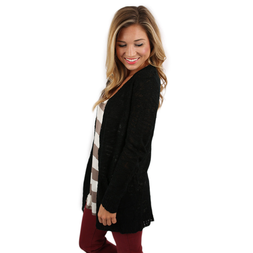 Cozy Cabin Cardi in Black