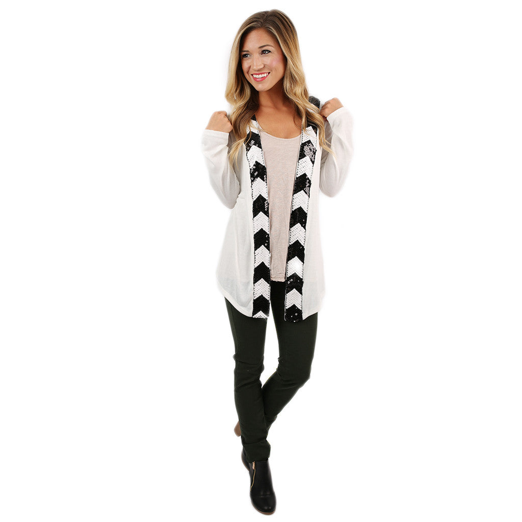 Shine So Bright Cardi Ivory
