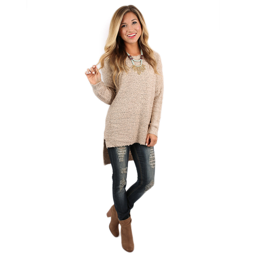 Vail Vacay Sweater in Taupe