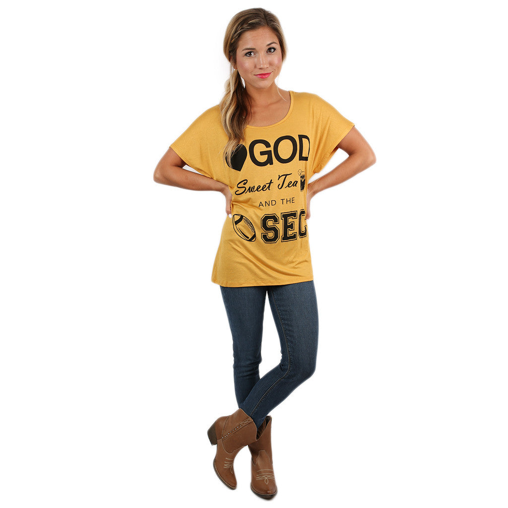 Sweeter in the South Tee Mustard