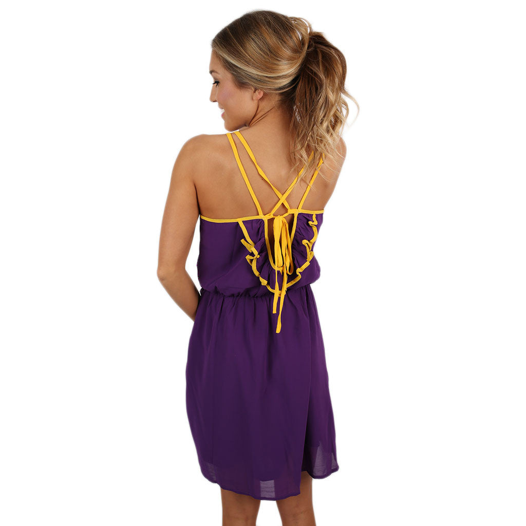Let's Tailgate Dress in Purple