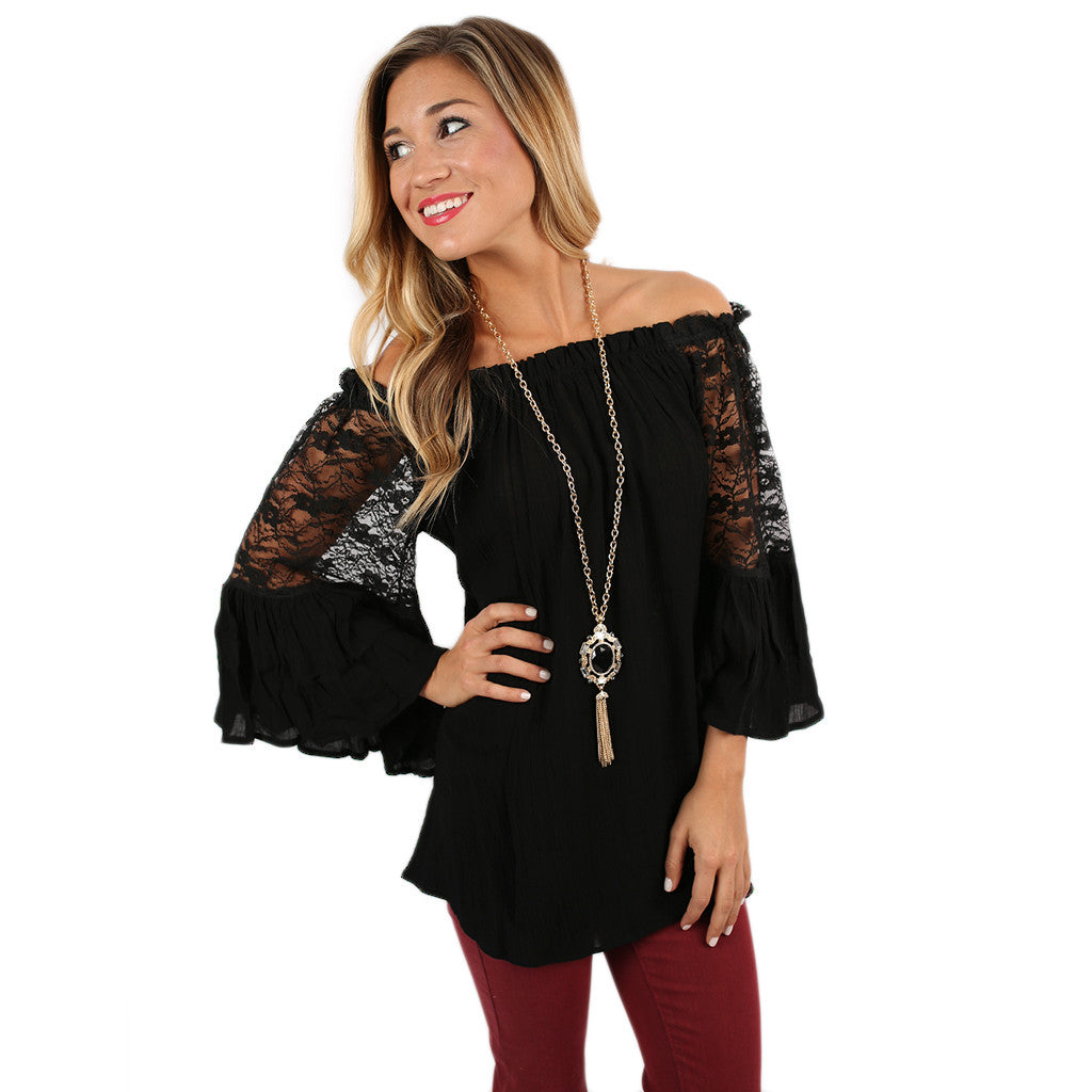Life to Love Tunic in Black