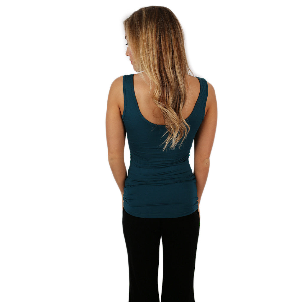 Impress Basic Tank in Teal