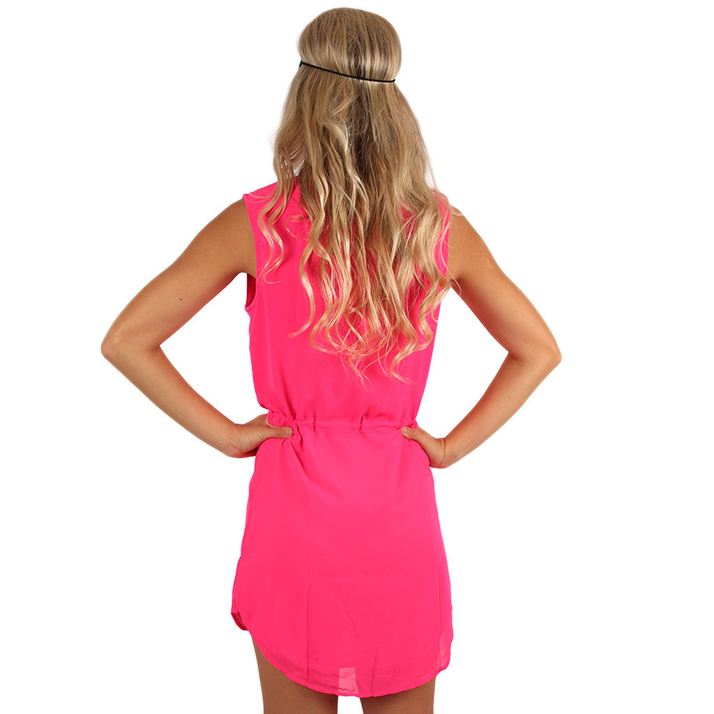 Falling For Fate Tunic in Hot Pink