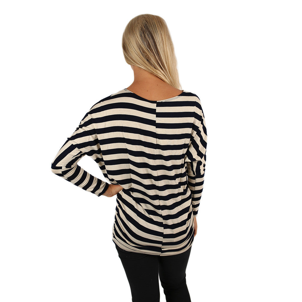 A Striped Affair Tunic Navy