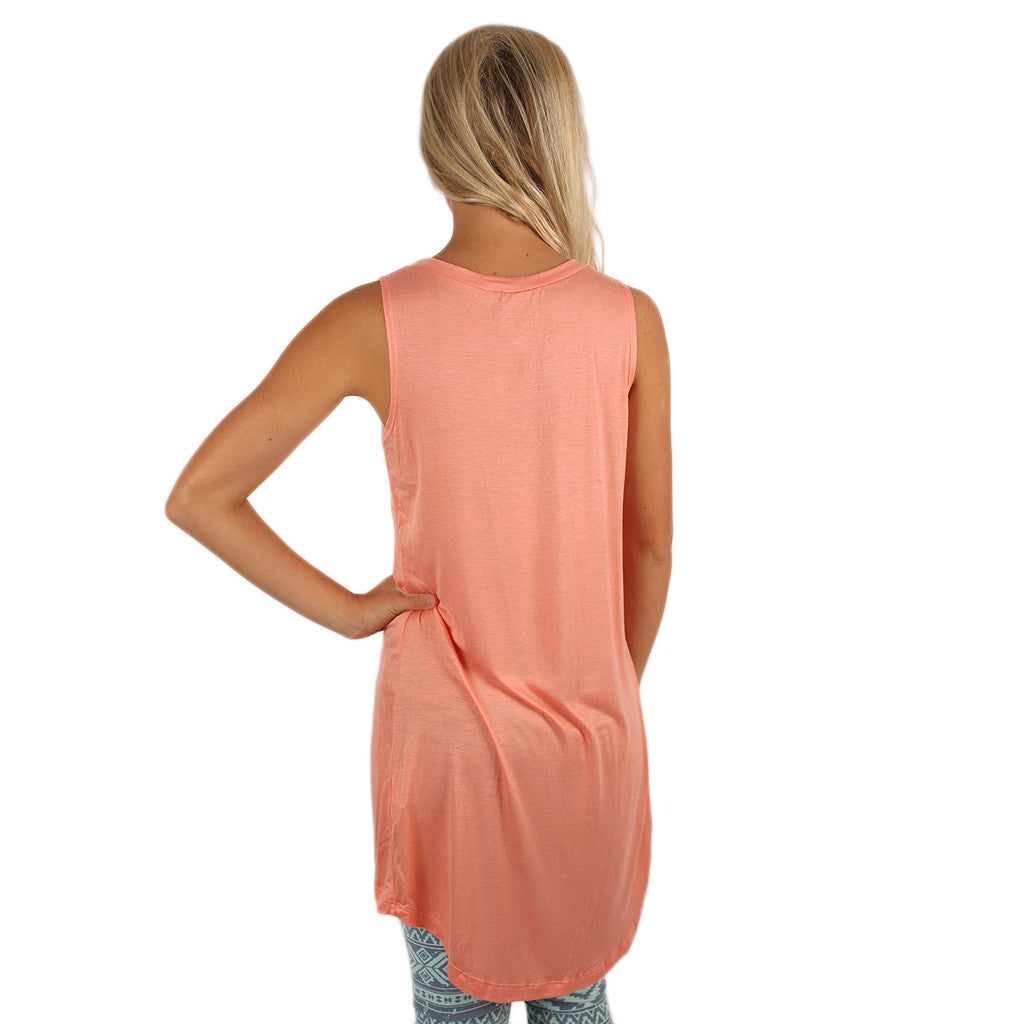 Anchors Away Tunic Tank in Peach