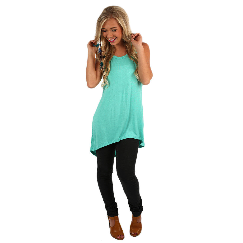 Anchors Away Tunic Tank in Mint