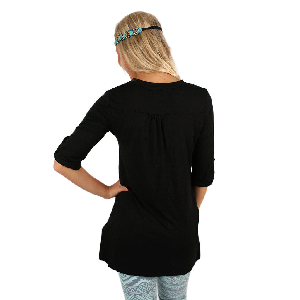 Knockout Tunic in Black