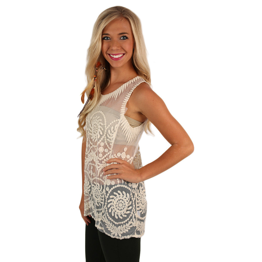 Tea Sipping Tank in Ivory
