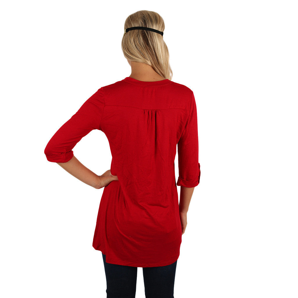 Knockout Tunic in Sangria