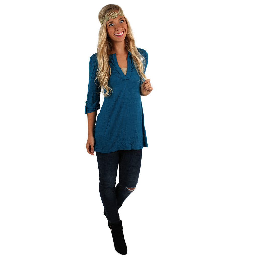 Knockout Tunic in Teal