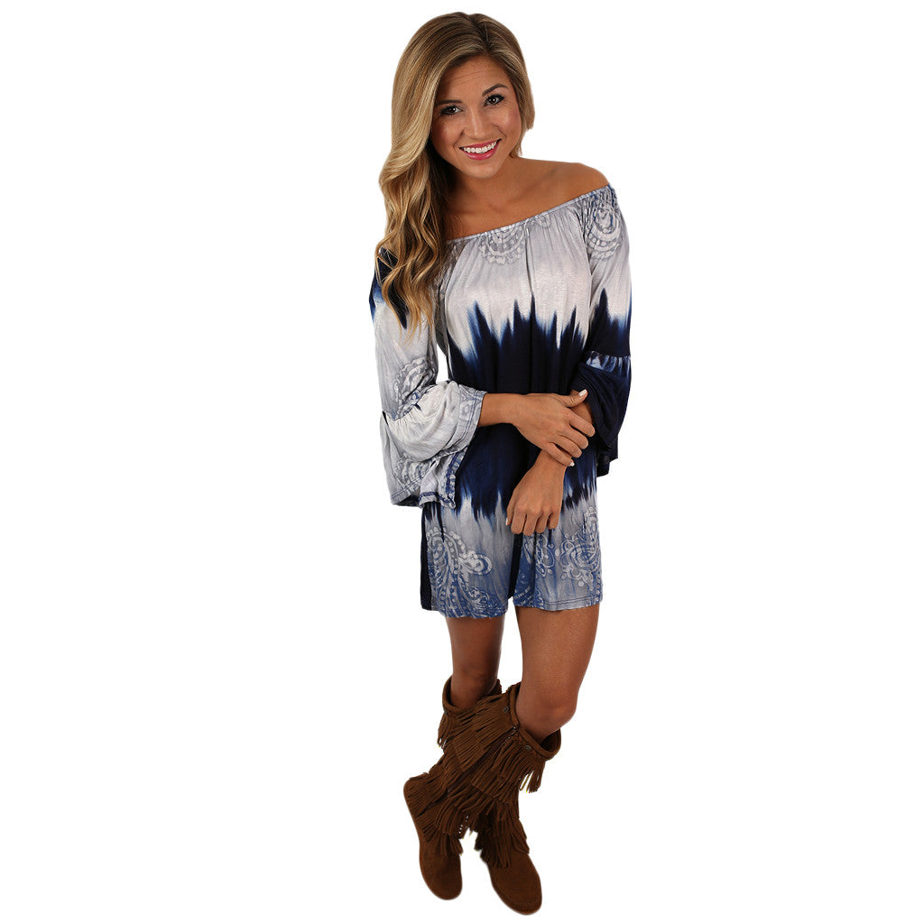 Southern Skies Tunic Dress in Navy