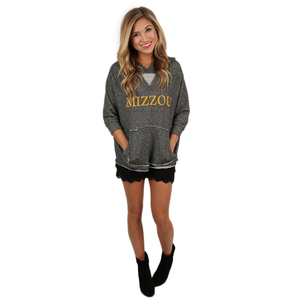 Scrunch Neck Hoodie University of Missouri