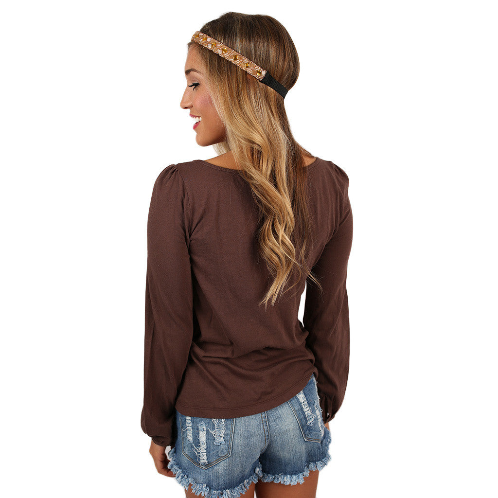 Bobi Button Down Brown