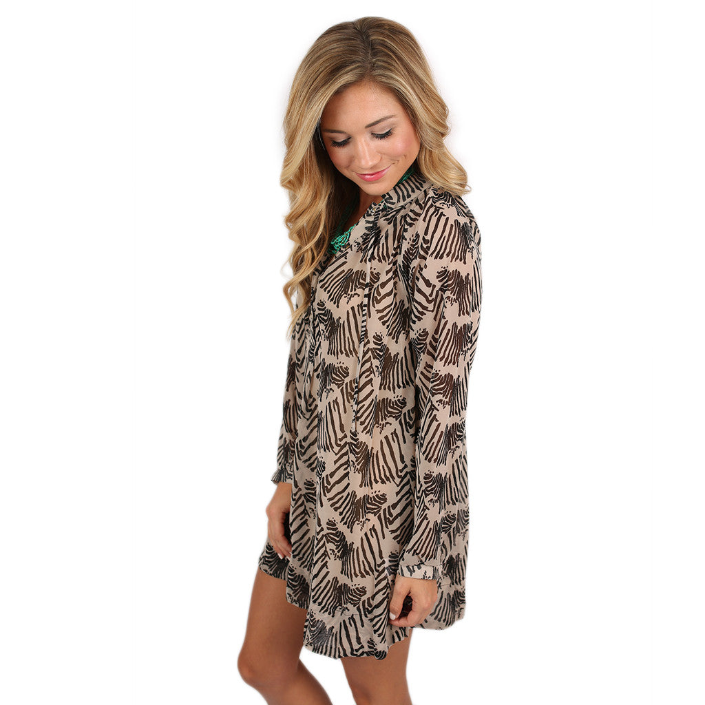 Dream Girl Tunic Zebra