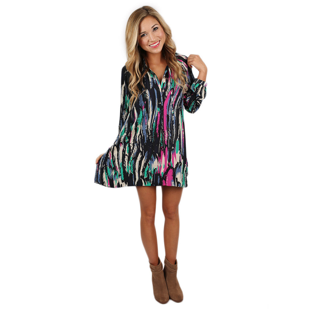 Dream Girl Tunic in Feather