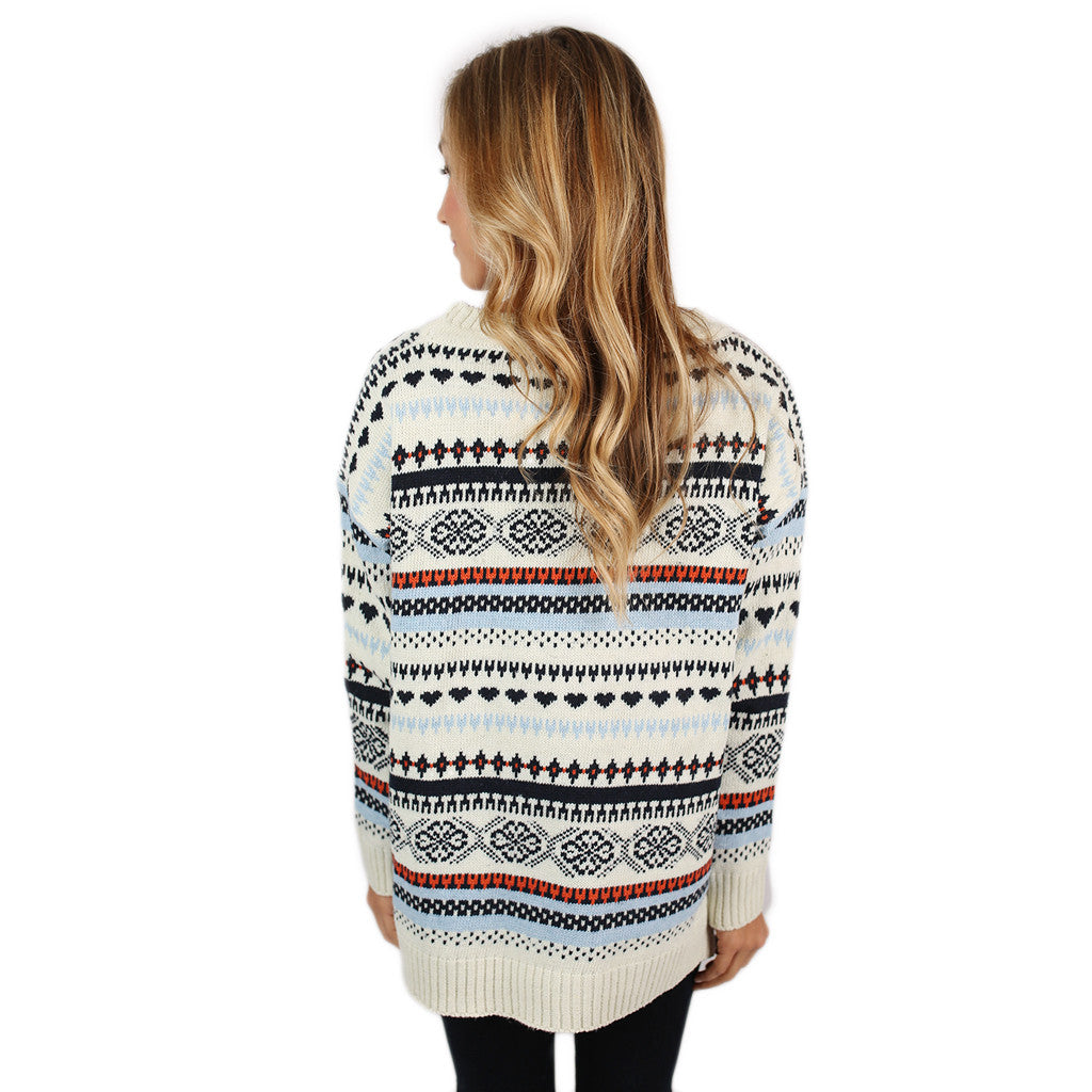 Feeling Lucky Sweater White