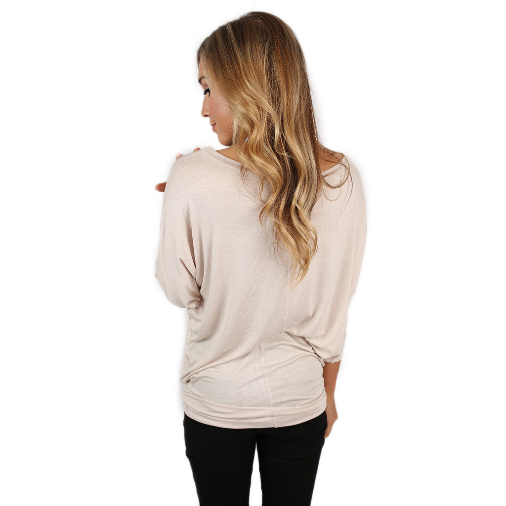 Living In Color Tee in Taupe