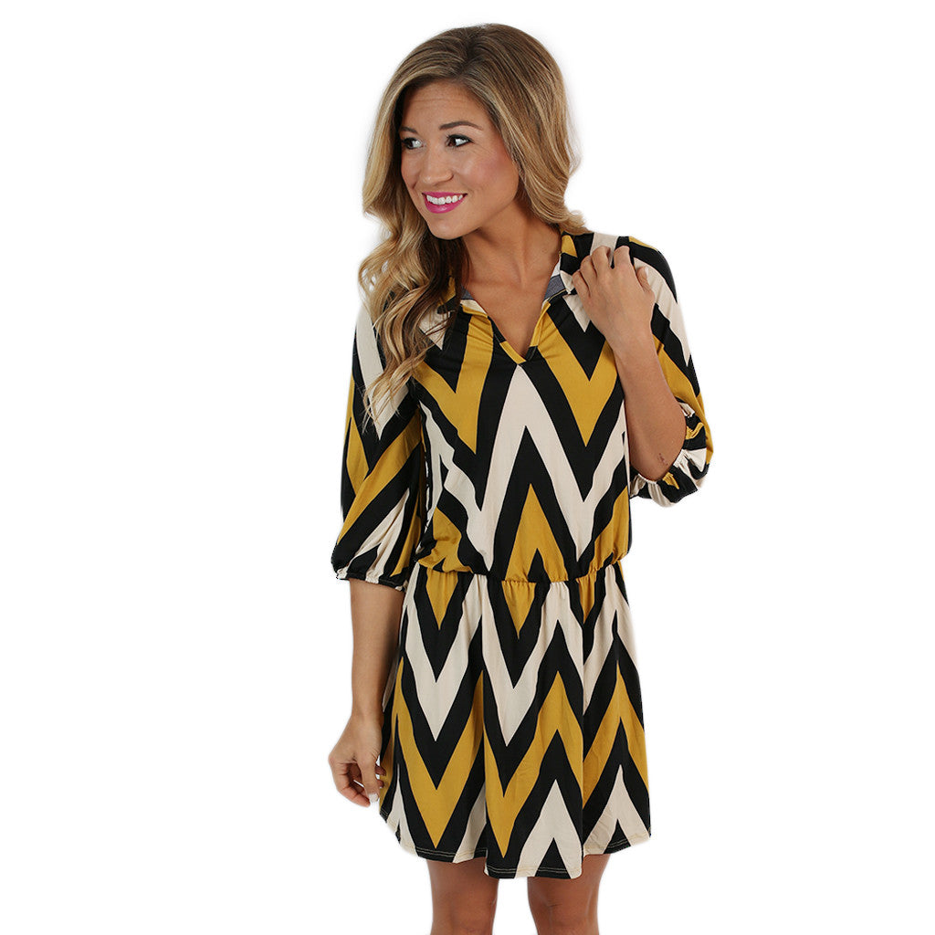 Party Time Stripe Mustard/Black