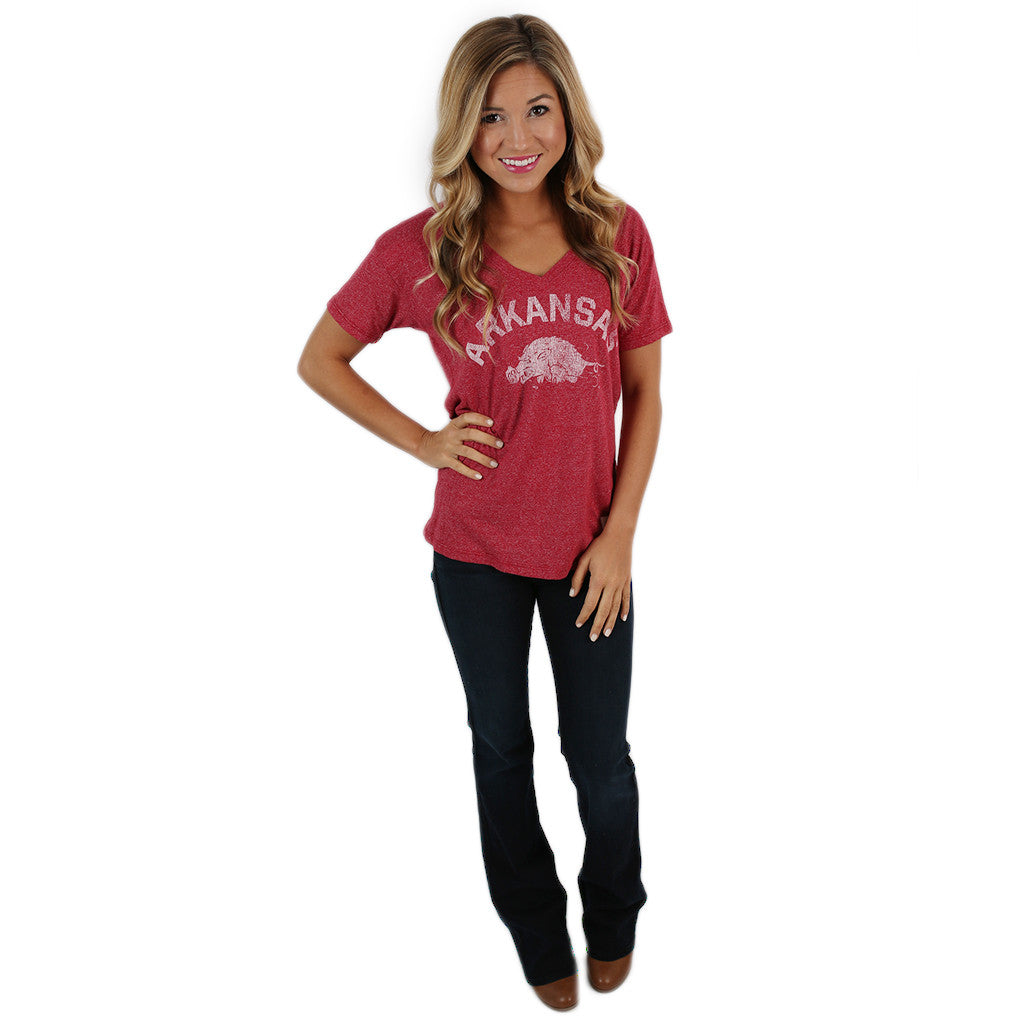 Retro Arkansas V-Neck