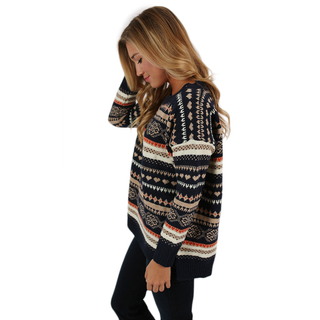 Feeling Lucky Sweater Navy