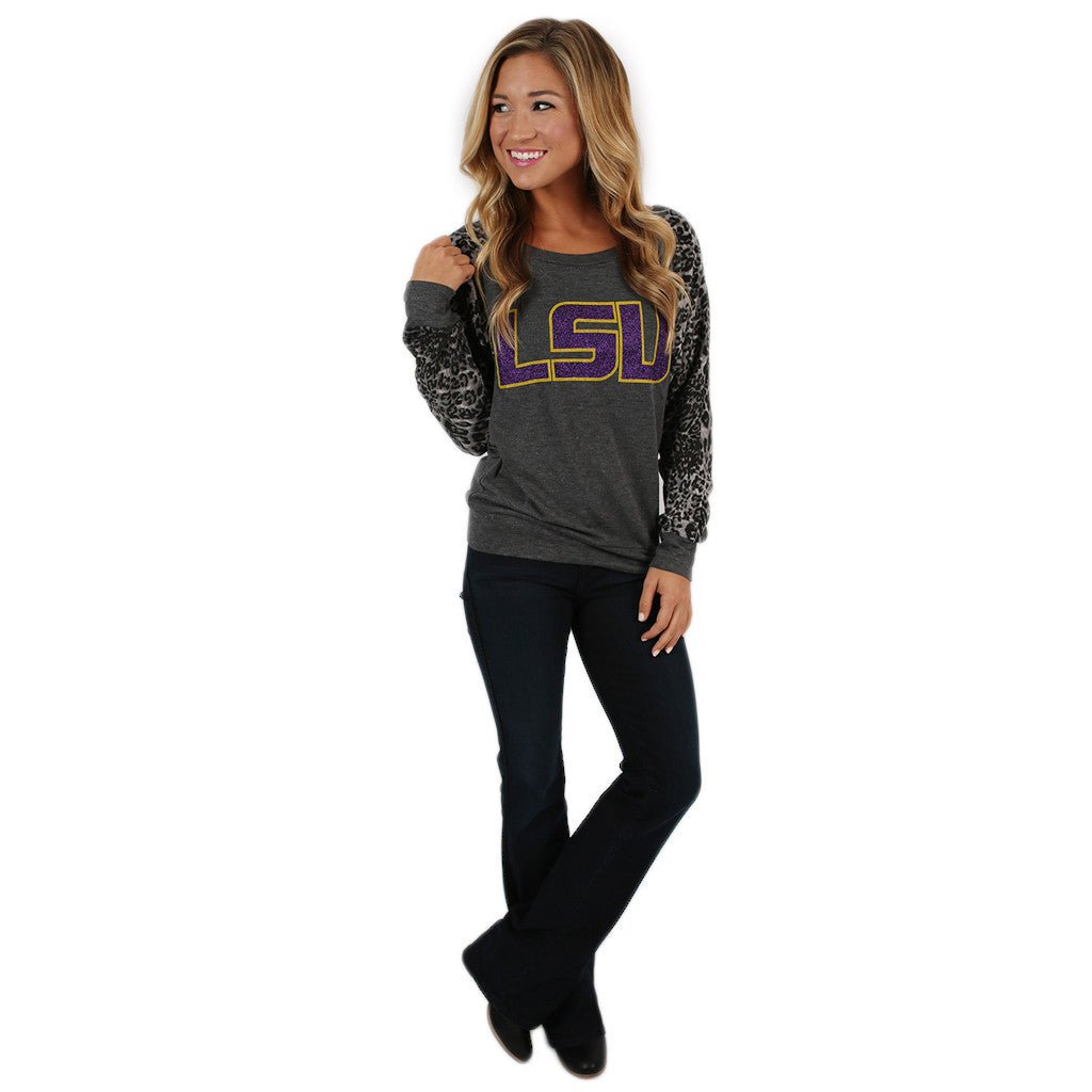 Leopard Sweater LSU