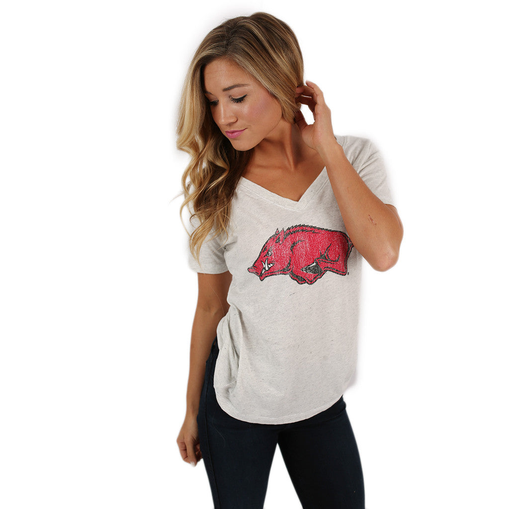 Retro Razorback V-Neck