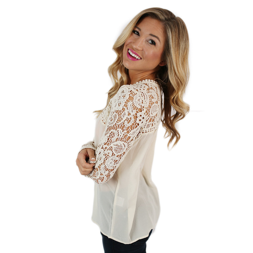 Loveliest in Lace Top